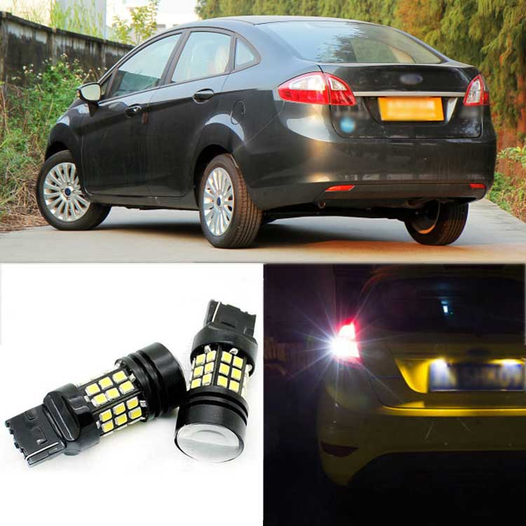 2pcs High Quality Superb Error Free 5050 SMD 360 Degrees LED Backup Reverse light Bulbs T20 For Ford Fiesta Sedan 2009-2012 2pcs high quality superb error free 5050 smd 360 degrees led backup reverse light bulbs t20 for hyundai i30