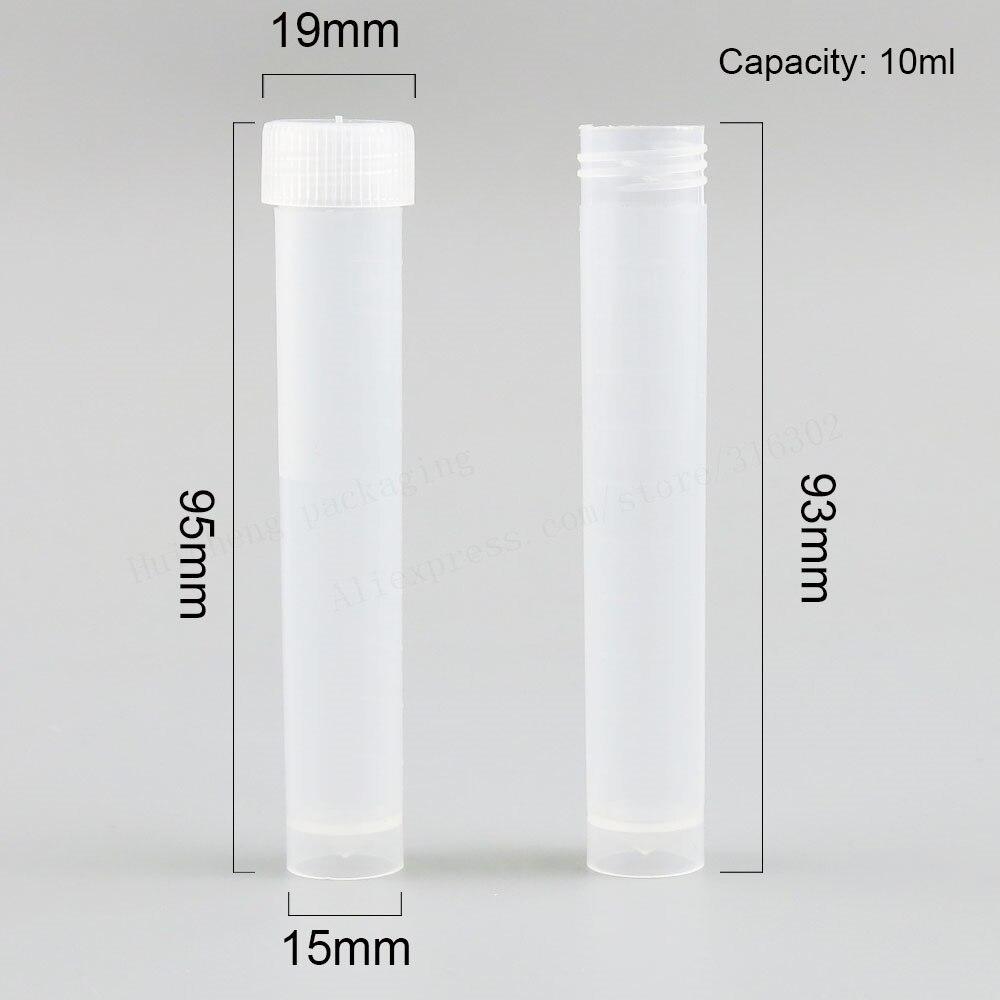 100X эксперимент поставки 10 мл заморозка pp трубка 1/3 oz с винтовым горлом pp трубка с Пластик Кепки