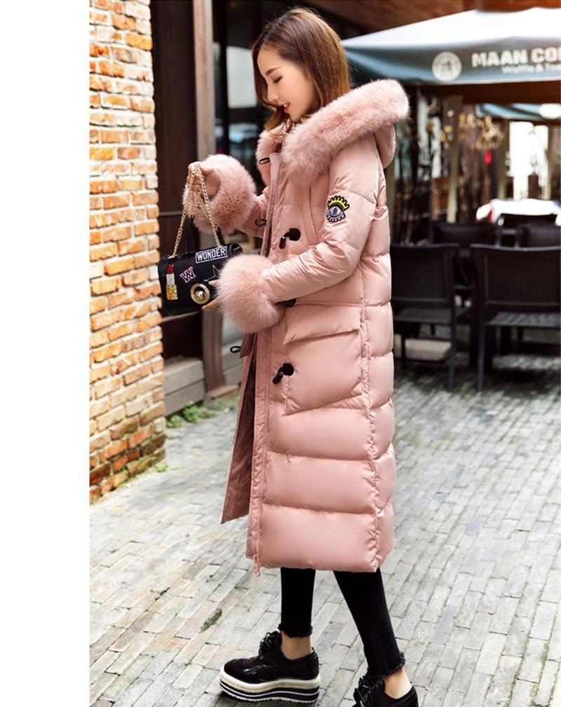 De Bas D'hiver Chaud Wxf385 Femmes Abrigo Mujer Fourrure Parka Manteau Manteaux Mode Vestes Vers Col À Ayunsue Capuchon Dames Pink Le Épais XFdxXw