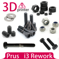 DIY i3 Rework Reprap 3D Printer Nuts & Bolts Screw Full Kit,machine screw hex nut lock nut smooth rod or grub screw
