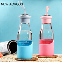 The New Eight Cup Of Water Glass Portable Glass Borosilicate Glass With A Lifting Rope Can