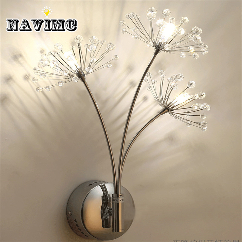 Modern LED Wall Lamps Wall Light Sconces Bedside Reading Light Dandelion Design Wall Decors for Bedroom Night Light modern brief bedside wall lamps 1w led reading light lamp wall bed hose rocker arm reading wall lighting fabric lampshade wwl098