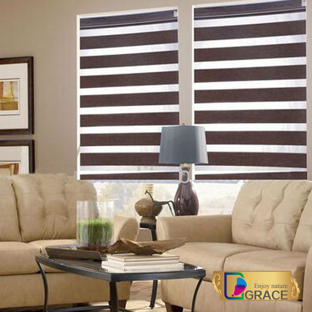 New Indoor Home Window Zebra Roller Blinds Shades Curtains