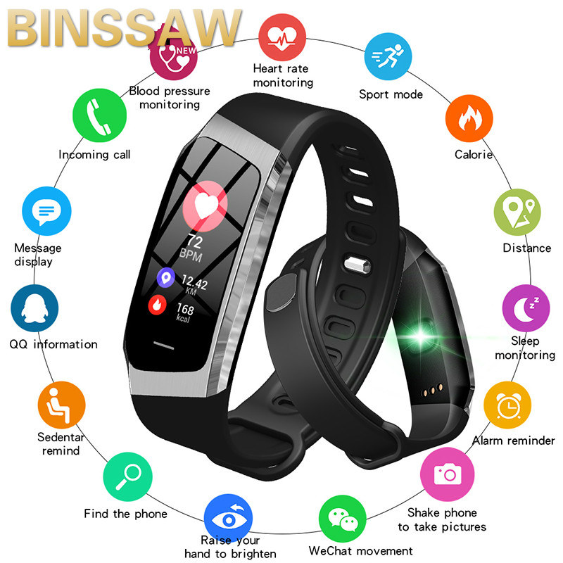 BINSSAW 2019 Smart Watch IP67 Waterproof Heart Rate Monitor Blood Pressure Bluetooth Men Women Smartwatch For Android IOS PhoneBINSSAW 2019 Smart Watch IP67 Waterproof Heart Rate Monitor Blood Pressure Bluetooth Men Women Smartwatch For Android IOS Phone