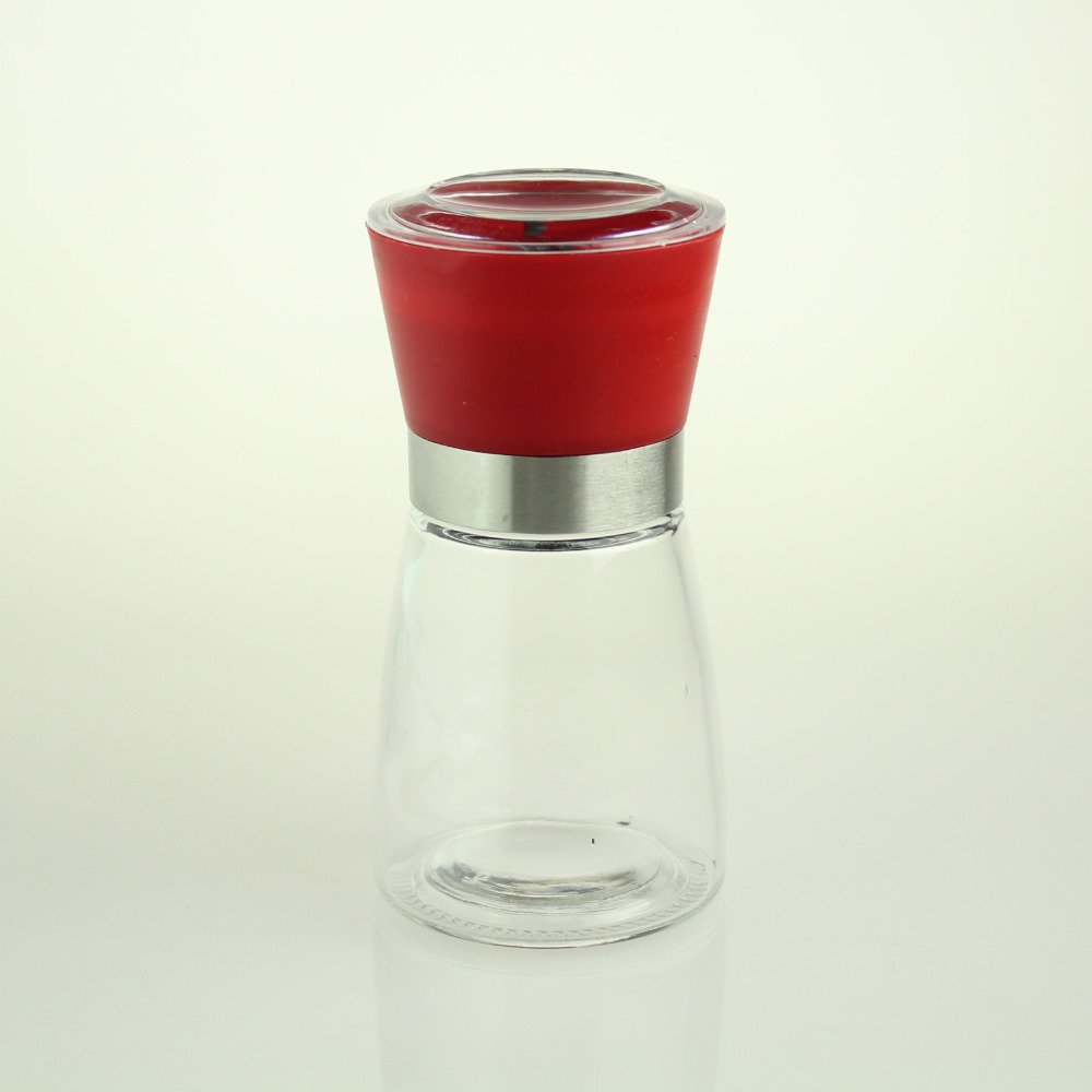 Fashion New Red Cap Hand Driven Salt Grinder Pepper Mill