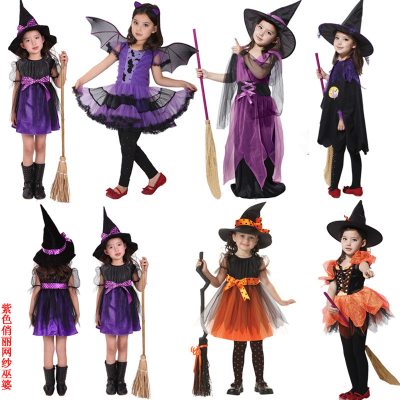 2019 Children's Masquerade Magician Children Cosplay Costumes Halloween Children's Clothing Witch Performance Clothing