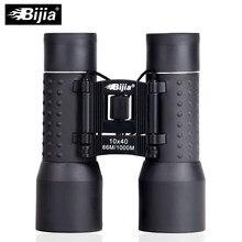 Bijia 10x40 binocular grande angular hd caça telescópio ao ar livre óculos de viagem dobrável
