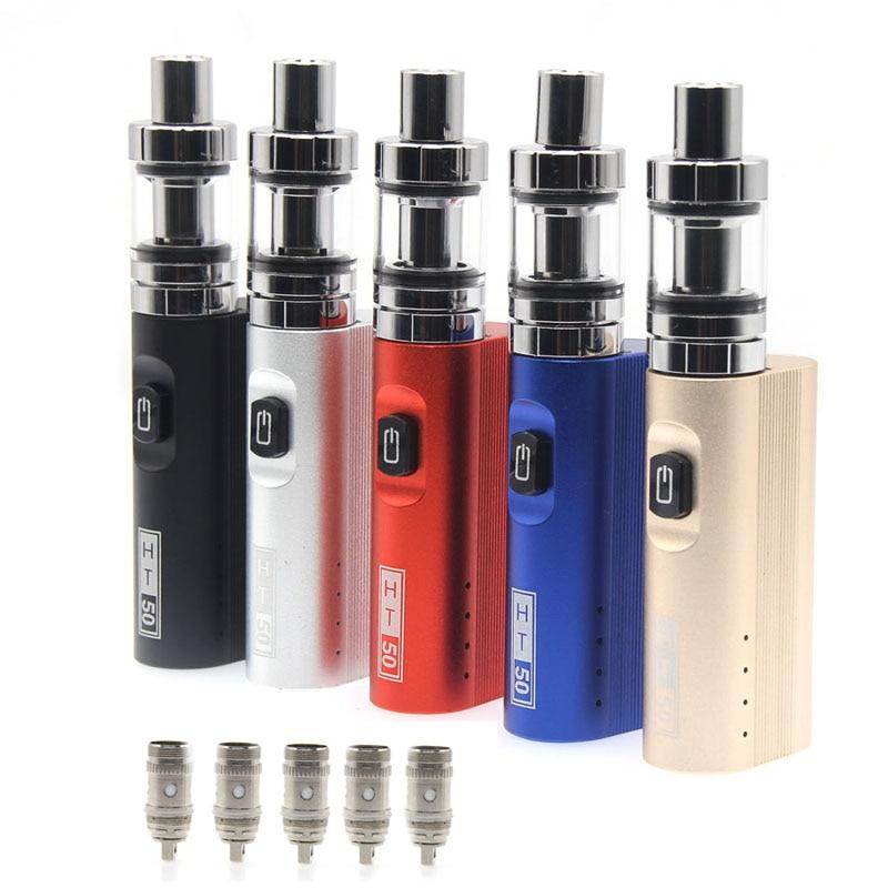 HTBY HT 50 Elektronische Zigarette Box Mod kit 2200 mah 50 watt kits 2 ml mini Tank 510 Gewinde Verdampfer HT50 Vape