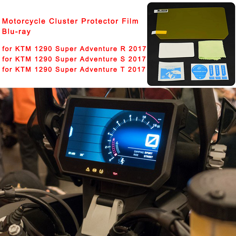 for KTM 1290 Super Adventure R S T 2017 2018 Cluster Scratch Protector Film Blu-ray Speedo Instrument Dashboard Guard Motorcycle (1)