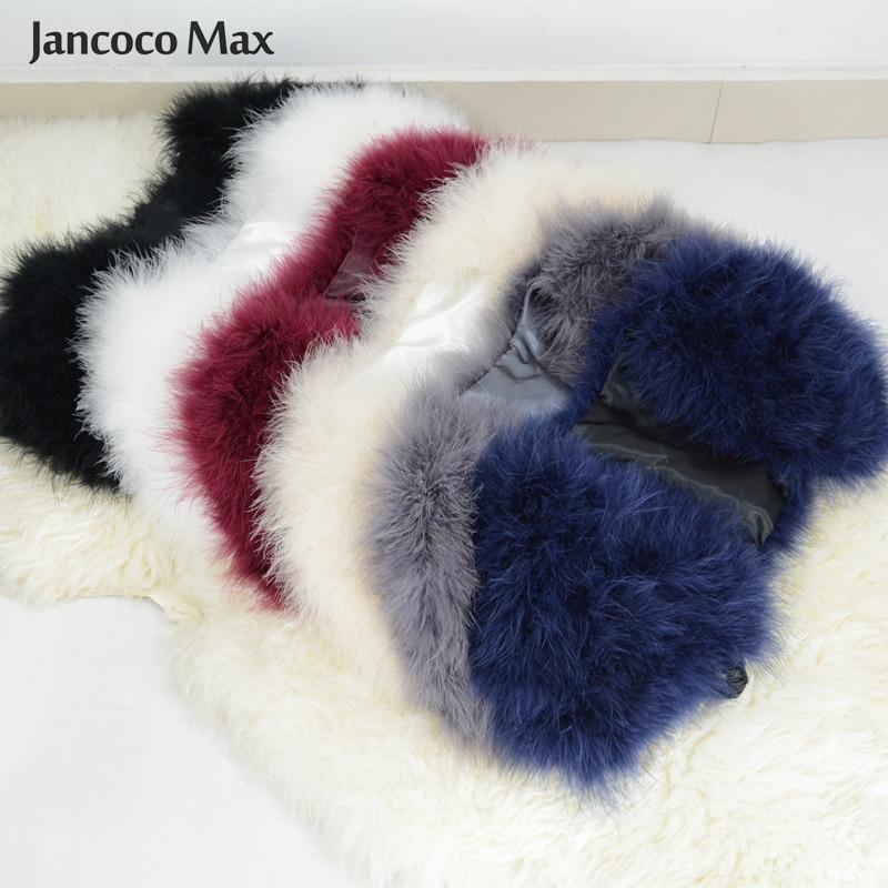 Jancoco Max 2019 Echt Bont Cape Bolero Vrouwen Echt Struisvogelveren - Dameskleding - Foto 5