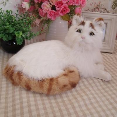 new big simulation lying cat toy polyethylene & furs yellow stripe cat model about 16x30x21cm 2016 new creative simulation cat toy polyethylene