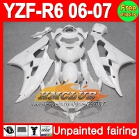 Body Unpainted Full Fairing Kit For YAMAHA YZF R6 2006 2007 YZFR6 YZF600 YZF R6 R