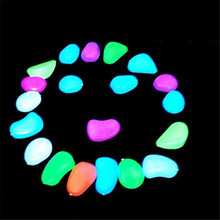 10 Pcs Colorful Fish Tank Glowing Stones Pebbles Fish Tank Aquarium Submarine Luminous Artificial Stone Ornament