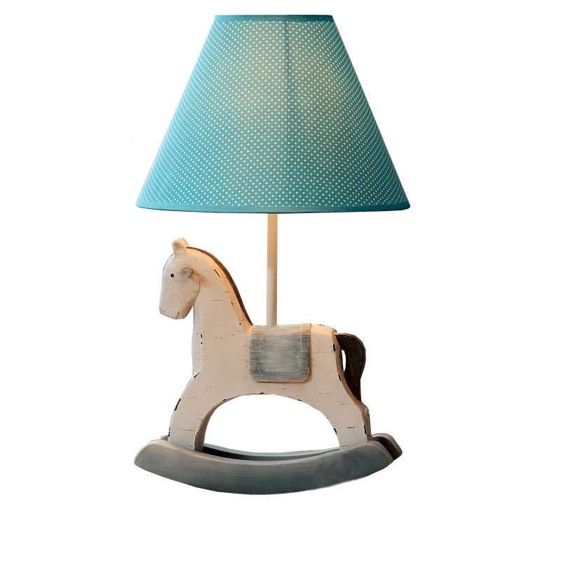 Cute Cartoon Trojans Baby Room Desk Lamp Vintage Kid\'s Bedroom Table ...