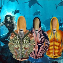 Aquaman Arthur Curry Orin Cosplay Costume Moive Anime Hoodie Sweatshirts Jackets Coats Men Women New Top