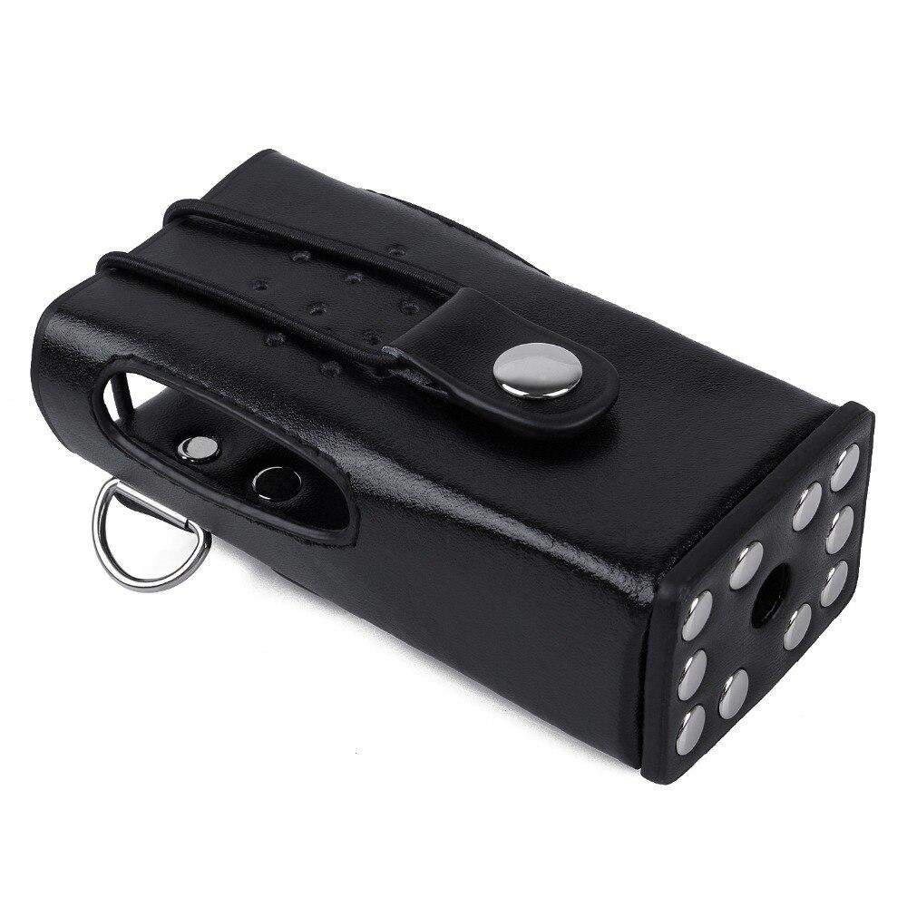 For Kenwood Two Way Radio Leather Protective Sleeve Shoulder Bag Hard Holster Case For Kenwood TK-3207 TK-2207 TK-3307 TK-3200