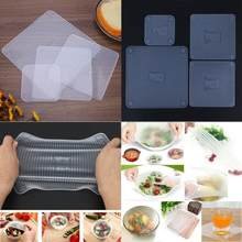 d88dc60e12 Cibo Conservazione Fresca Riutilizzabile In Silicone Wrap Stretch Pellicola  trasparente Saran Wrap Cucina Forno A Microonde
