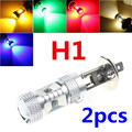 2pcs H1 Light 30W LED for Car Fog light Driving Running Bulb DC 12V White Red Blue Amber