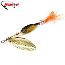 1pcs 10g Jig Spinner Bait Fishing Lure Pesca Peche Spinnerbait Tackle Wobblers Metal Spoon Hard Lures Crankbait Isca Artificial
