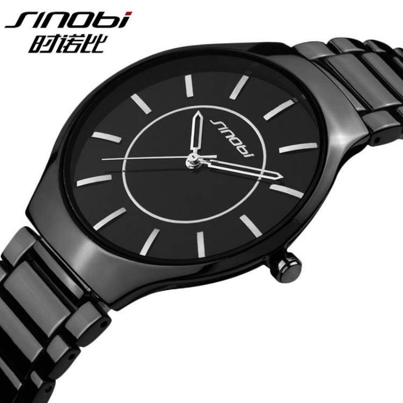 SINOBI Watch Men Wirst Watch Waterproof Full Steel Mens Watches Fashion Men s Watch Clock saat
