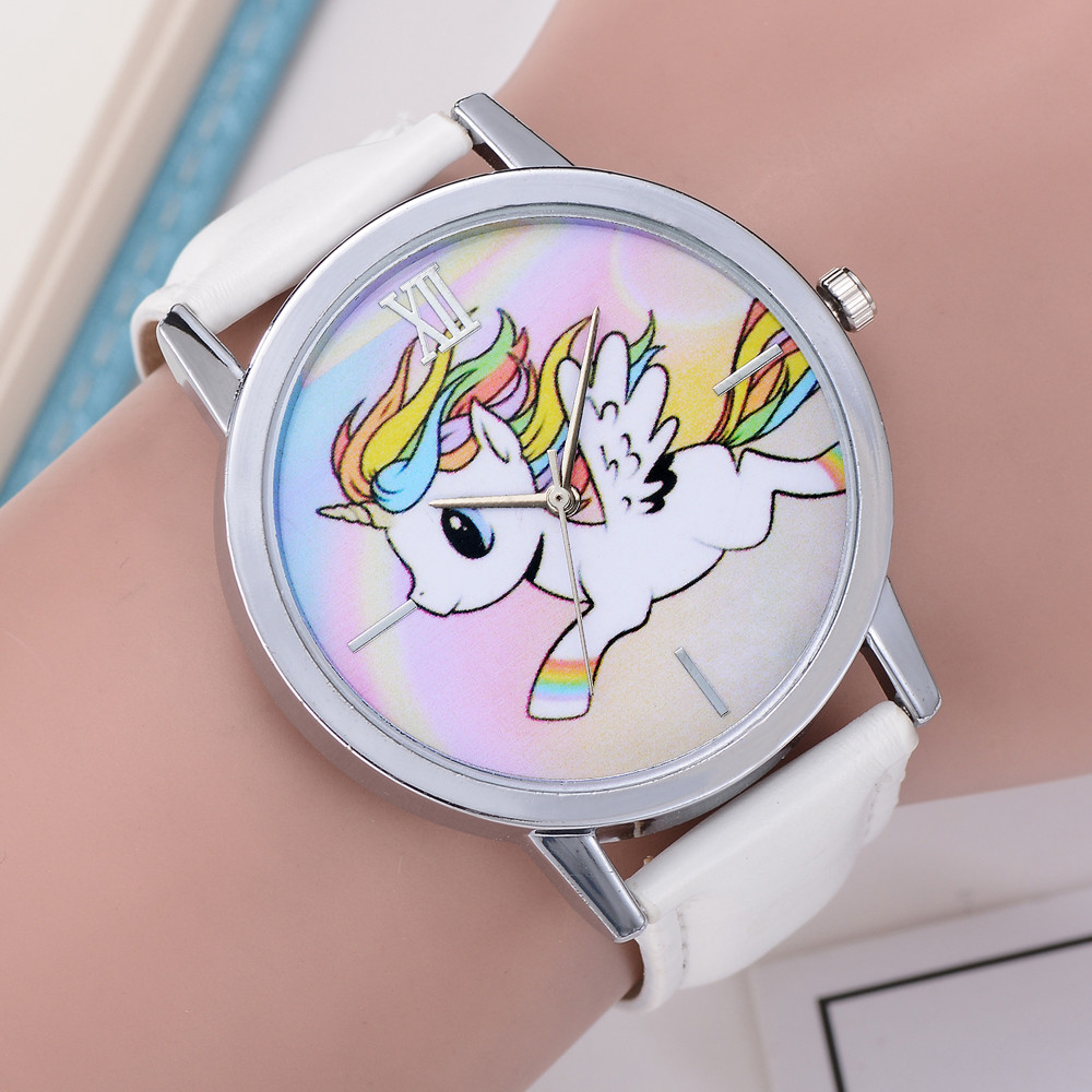 Women's Girls Kids Cartoon Watches Ladies Fashion Cute Animal Dial Quartz WristWatch Leather Band Analog relogios femininos A75