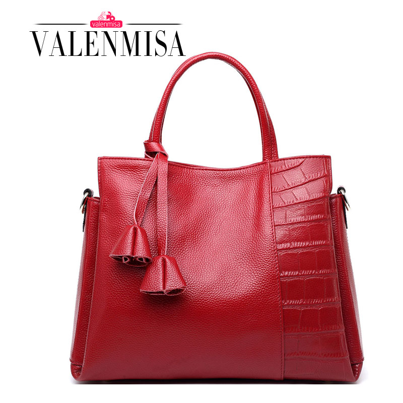 Genuine Leather Bags For Women Designer Handbags Crocodile Logo Large Tote High Quality Lady Shoulder Bags Bolsas Femininas 2017 2018 luxry brand women leather handbags lady large tote bag female shoulder bags bolsas femininas sac black red cross velvet