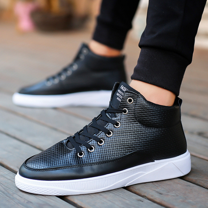 Qualité Top forme Tennis Masculin Noir Xek De vert High Microfibre Sneakers Haute Plaid Designer Zll324 Vulcaniser Plate Hommes blanc Chaussures Pour qAtwOA8