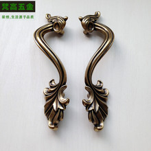 Bronze with Handles Bedroom Drawer Cabinet Handle Classical Retro Drawer Kitchen Handle 78mm Hole Spacing Large Pull