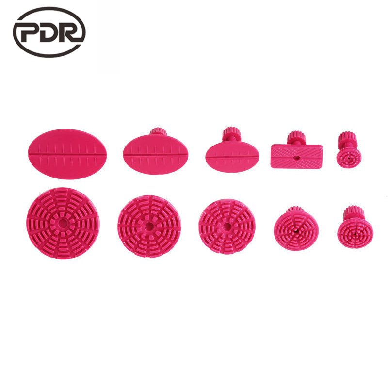 PDR Tools Kit Red Glue Tabs Dent Puller Tabs Suction Cup Suckers Dent Removal Paintless Dent Repair Tools 10 pcs /set pdr tools for car kit dent lifter glue tabs suction cup hot melt glue sticks paintless dent repair tools hand tools set