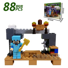 Minecraft Legoings My World Block Zombie Steve Wither building model kits Toy Action Figure Toys For Children Figures