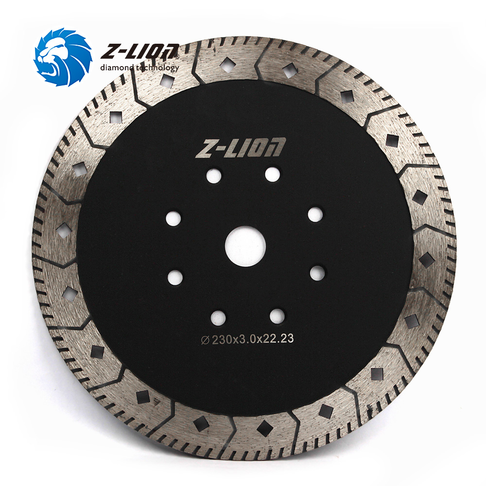 Z-LION 9 дюймов алмазной пилы двойная сторона Multi-Функция режущий диск для Гранит каменный шлифовальный круг 230 мм турбо пилы лезвие