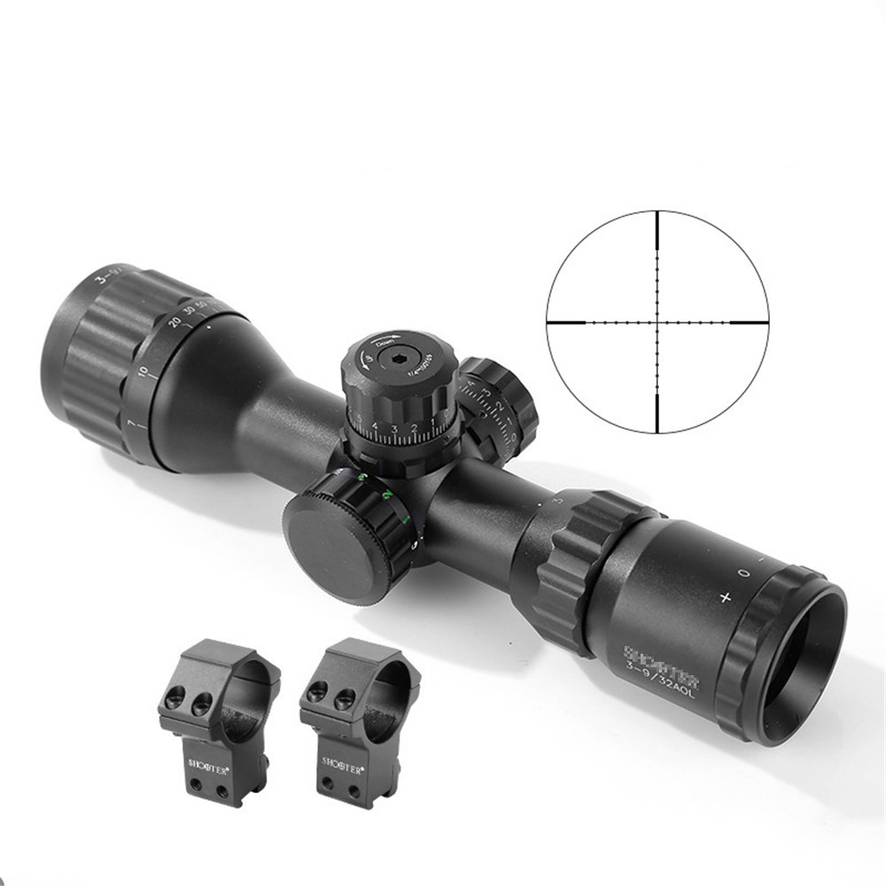 New Tactical Military ST 3-9*32AOE  Rifle Scope For CS Game Hunting Shooting CL1-0346 new arrival tactical 3 12x50aoe rifle scope for hunting cl1 0230