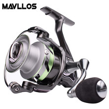 Mavllos Saltwater Fishing Jigging Reel 5+1BB Ratio 5.2:1 Drag Power 18Kg Ultralight Waterproof Boat Fishing Spinning Reel kastking kodiak saltwater spinning reel larger aluminum spool 18kg drag boat fishing reel with 11 ball bearings 5 2 1 gear ratio