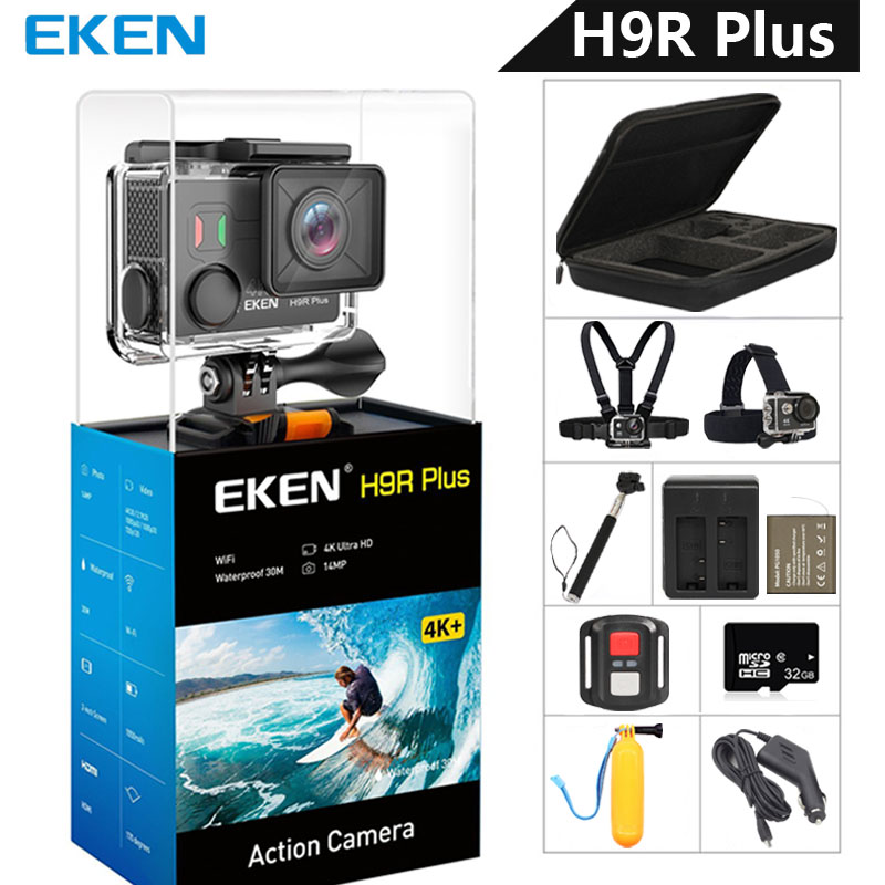 EKEN H9R Plus Action Camera Ultra HD 4K Ambarella A12 4k/30fps 1080p/60fps Waterproof Wifi Sport Camera For Panasonic 34112 14MP(China)