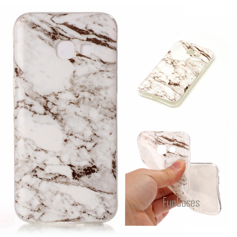 Phone Cases For Samsung Galaxy A5 2017 A520 Case Marble Stone image Painted Cover Mobile Phone Bags & Case For A5 2017