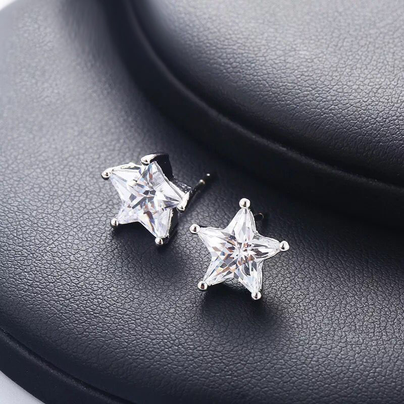 88f445270 MxGxFam Star Stud Earrings for Women AAA+ Cubic Zircon Classic Style Jewelry  White Gold Color 5mm / 6 mm / 7mm / 9mm / 10mm-in Stud Earrings from Jewelry  ...