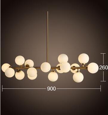 16 lights Simple Creative Modern Pendant Light  Hanging Lamp Glass ball Drop For Home Lighting Lamparas Colgantes