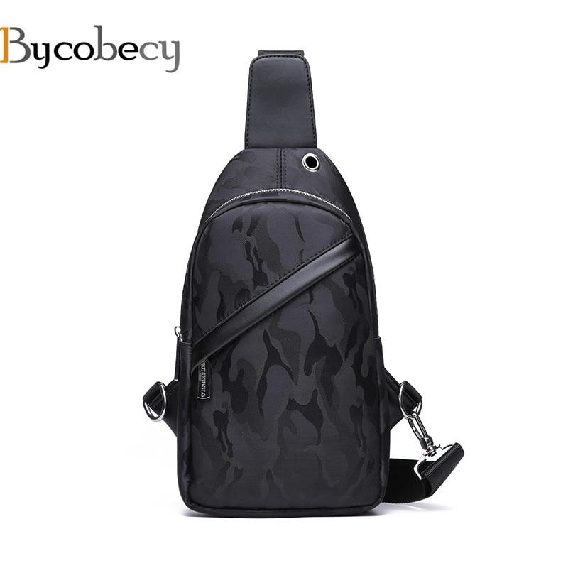 Bycobecy Fashion Chest Bag Men Black Blue Single Shoulder Bags for Men Zipper Cross Body Bags Man Anti Theft Male Messenger Bag куртка утепленная mavi mavi ma008ewvvu32