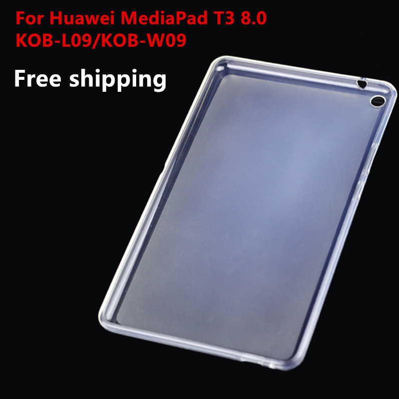 T3 8.0 TPU Soft case For Huawei MediaPad T3 8.0 8 Tablet PC,Semi transparent Silicone Gel Cover for KOB-L09/KOB-W09 8inch fe375 case cover soft tpu rubber silicone semi transparent back case for asus fonepad 7 fe375cg fe375cxg fe7530cxg k019 silicon