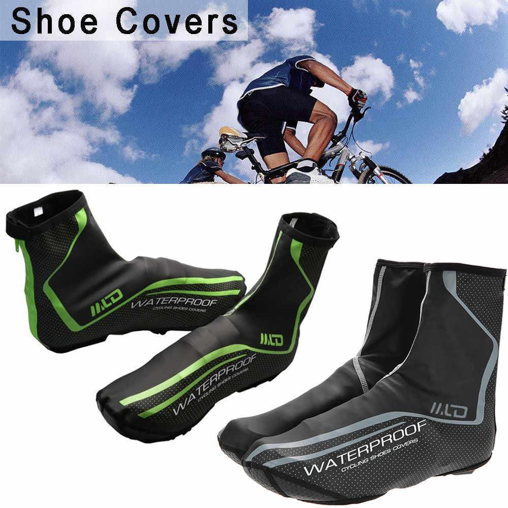 Ciclismo Sapato Cobre Inverno Estrada Mountain Bike Cobrir Sapatos À Prova de Vento Quente Ao Ar Livre Esporte Bicicleta Galochas Capa # L4