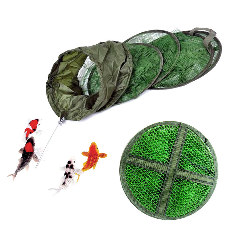 Foldable 3 Layer Nylon Crab Lobster Fishing Storage Keep Carry Net