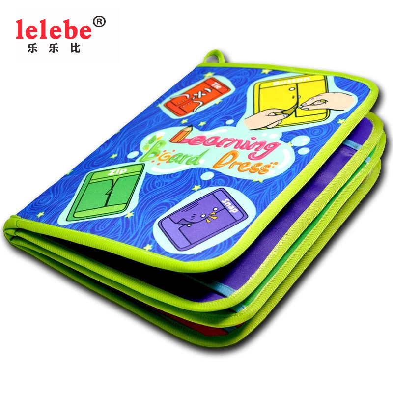 Learn To Dress 2020 NEW Baby Books Preschool Educational Toys Dressing Skill Learning Book Children Teaching Aid Montessor Toy