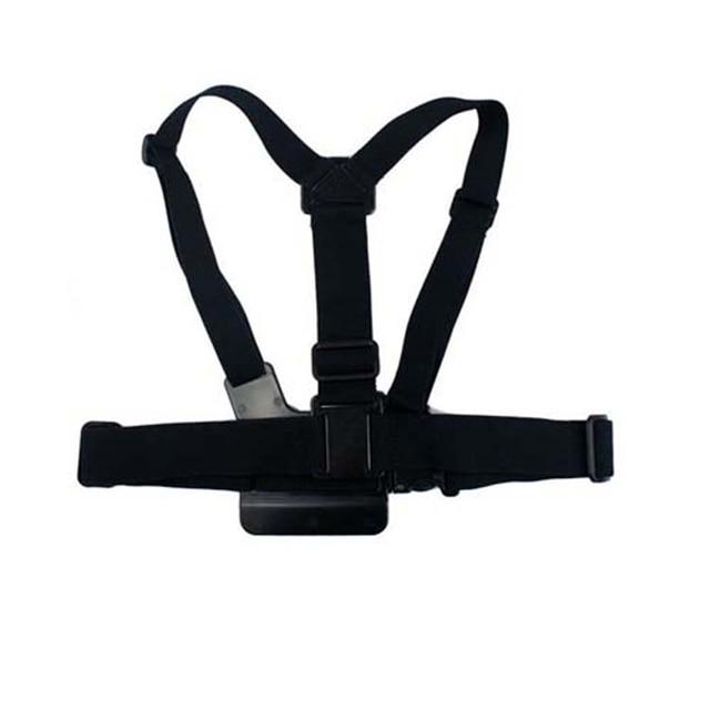 Cinta cinto elástico ajustável cinta de peito montagem para acessórios de câmera de esportes de ação