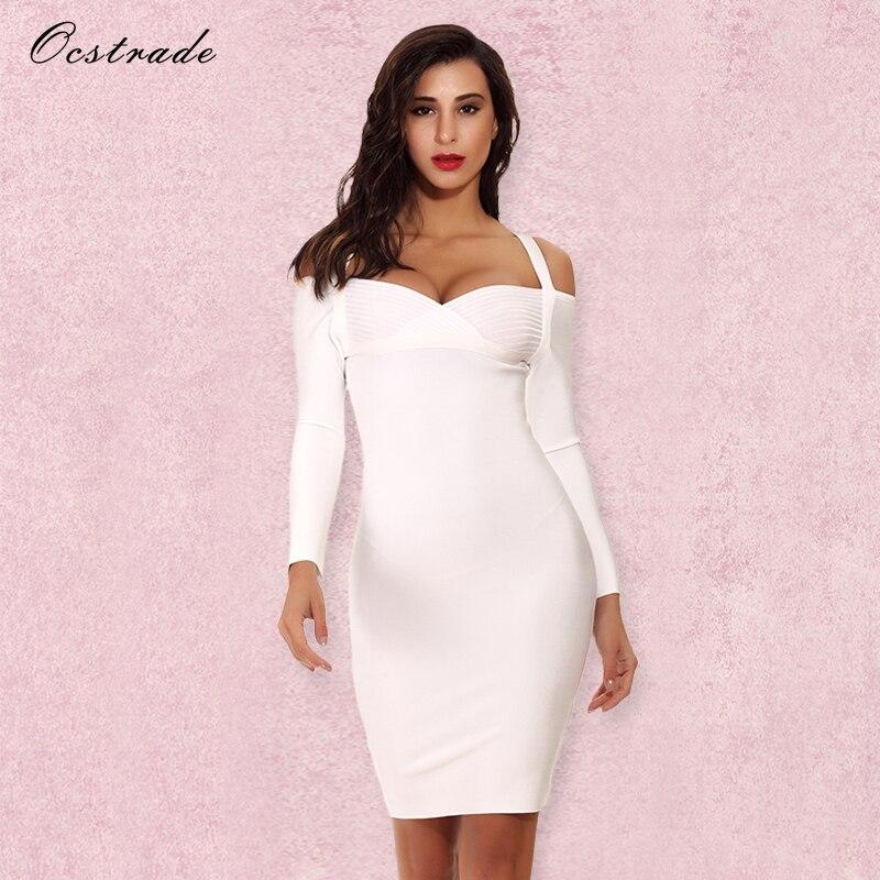 Blanco vestidos invierno 2018