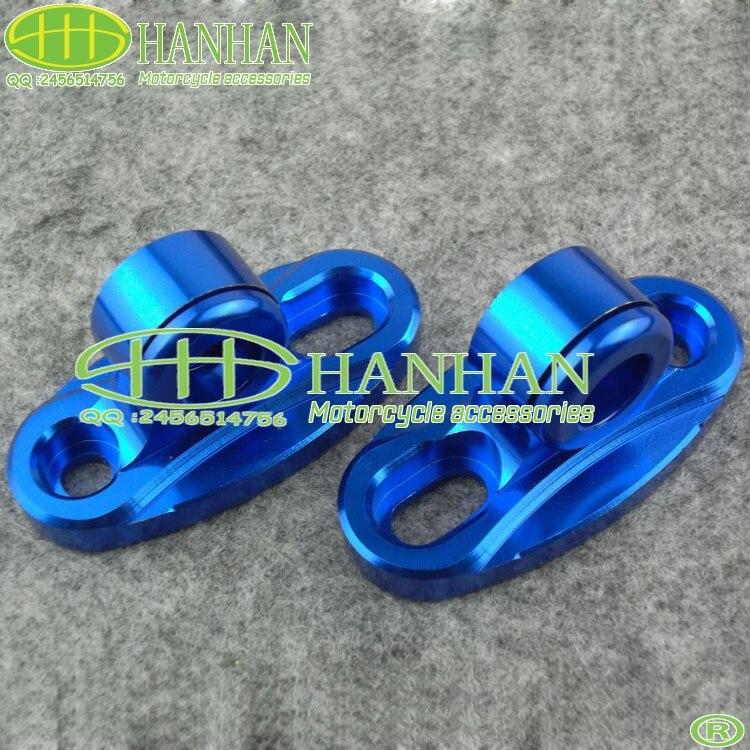 color azul de la motocicleta espejo retrovisor cnc coche deportivo horizon espejo reflectante espejo retrovisor