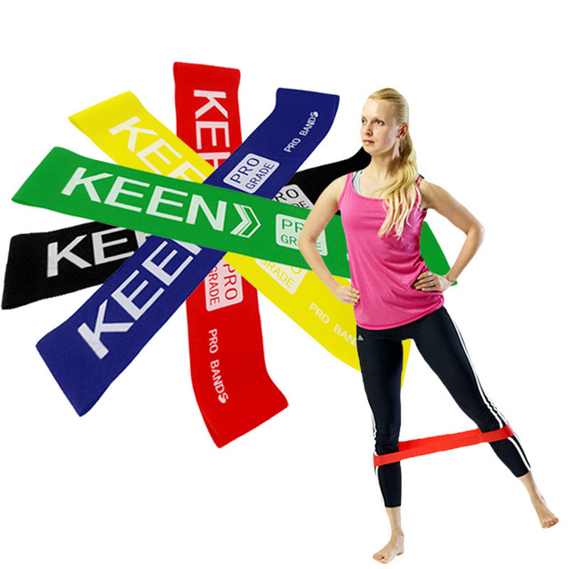 4 sts Resistance Loop Bands Rubber Exercise Band Yoga Strength Training