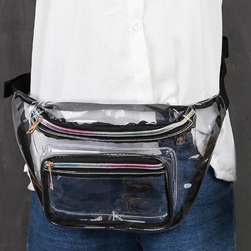 100% QualitäT Trendy Klar Transparent Pvc Taille Packs Frauen Mädchen Casual Pouch Fanny Brust Schulter Taschen Damen Taille Tasche Bolso Produkte Werden Ohne EinschräNkungen Verkauft