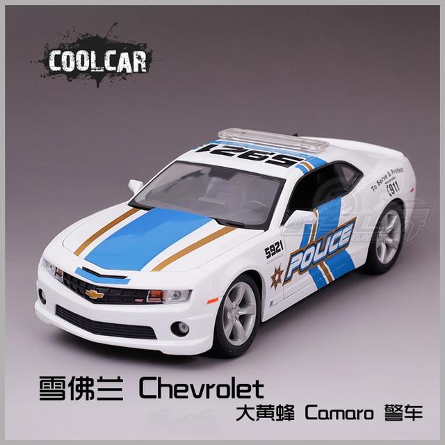 Chevrolet Bumblebee Raja Medis Mobil Polisi Putih Paduan Model Mobil