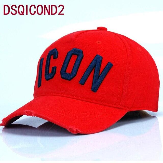 a8c36d5700b63 Best Quality Wholesale 100%Cotton Baseball Caps DSQ Letters Men Women  Classic Design ICON Logo Hat Snapback Casquette Dad Hats