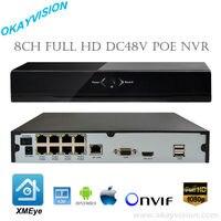 4CH/8CH PoE NVR Onvif Full HD 1080 P 48 V Rzeczywistym All-in-one Sieciowy Rejestrator Wideo dla Kamery IP PoE Chmura Obsługa Free wysyłka